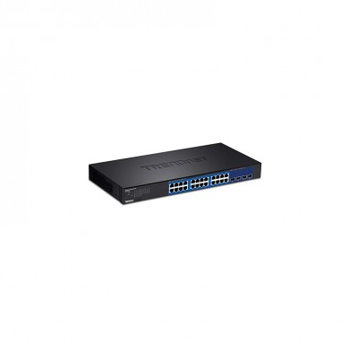 TRENDnet - TEG-30284 Managed Gigabit Ethernet (10/100/1000) Cambiar 1U Negro