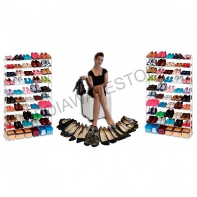Zapatero 50 pairs of shoes closet organizer to save space